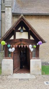 Wedding reception welcome at Westbury Leigh Community Hall