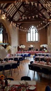 Wedding reception layout at Westbury Leigh Community Hall